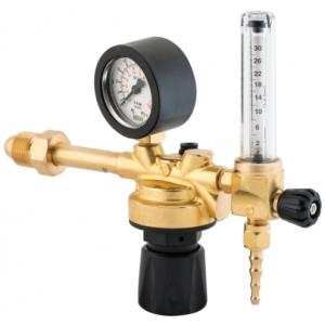 Riduttore di pressione con flussometro per bombola ricaricabile attacco Argon