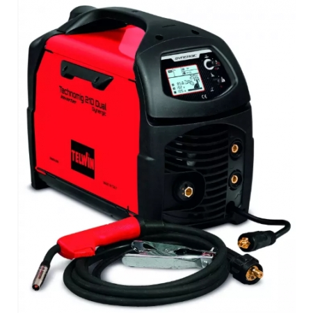 TELWIN Technomig 210 Dual Synergic, Multiprocess welding machine (MMA, MIG MAG, TIG)