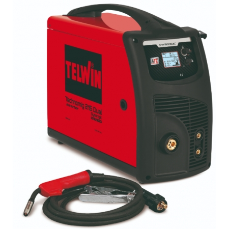 TELWIN TECHNOMIG 215 DUAL SYNERGIC Multiprocess welding machine (MMA, MIG MAG, TIG)