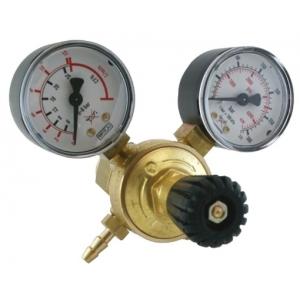 Riduttore di pressione Mini con due manometri per bombola ricaricabile