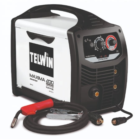 TELWIN Maxima 200 Synergic Multiprocess welding machine (MMA, MIG MAG, TIG)