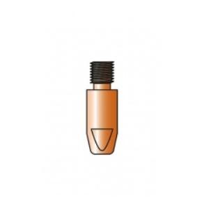 10 tubetti di contatto CuCrZr per saldatura acciaio-acciaio inox M8