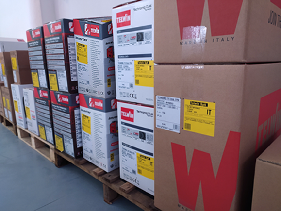 stock of welding machines